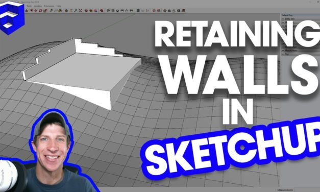 Modeling a RETAINING WALL IN TERRAIN in SketchUp