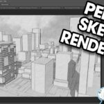 PENCIL SKETCH STYLE RENDERINGS in Photoshop from Your SketchUp Models