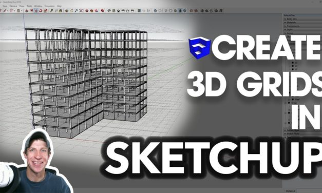 Create 3D GRIDS IN SKETCHUP with this Extension