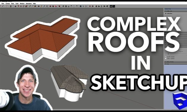 COMPLEX ROOFS IN SKETCHUP with Roof by TIG – SketchUp Extension of the Week #51