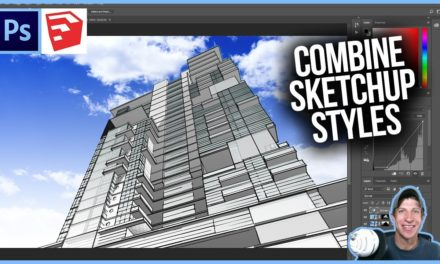 COMBINING SKETCHUP STYLES in Photoshop – Photoshop Stylized Rendering Tutorial