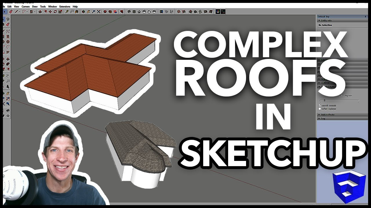 Complex Roofs In Sketchup With Roof By Tig Sketchup