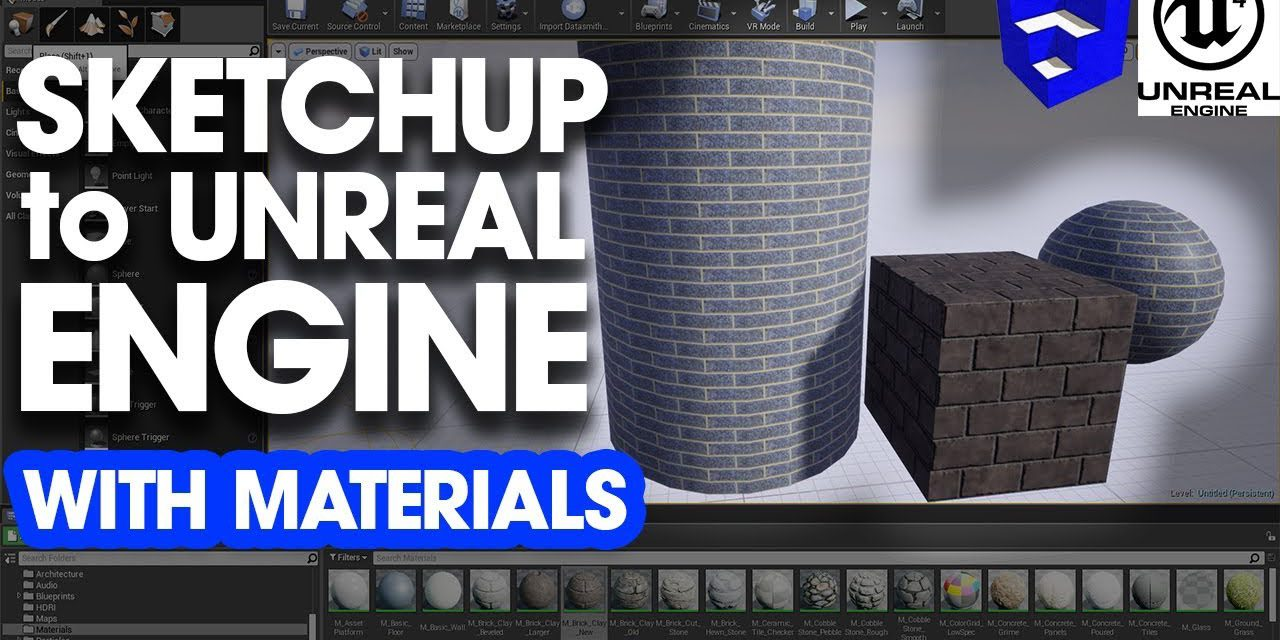 Importing SketchUp Models to Unreal Engine with Materials - The