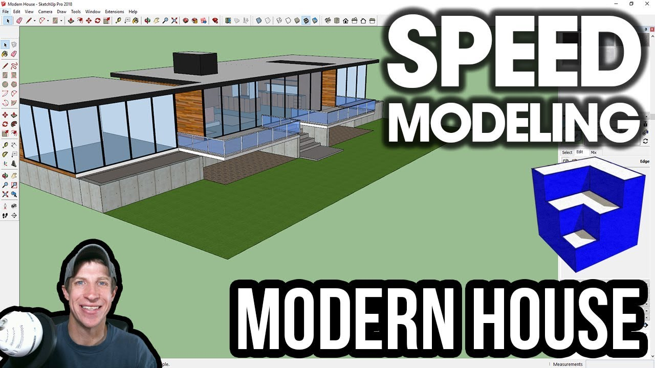 Modern house speed build sketchup speed modeling the sketchup essentials