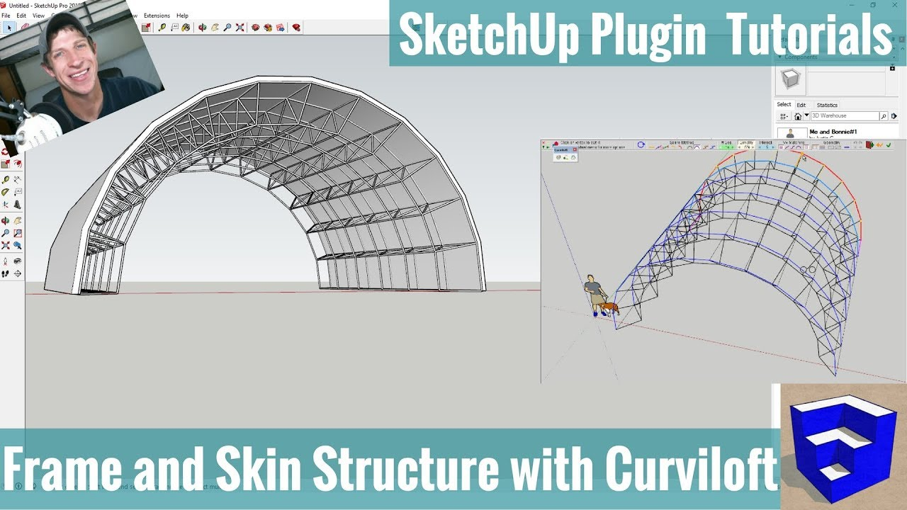 Modeling A Curving Truss Frame Structure In Sketchup With